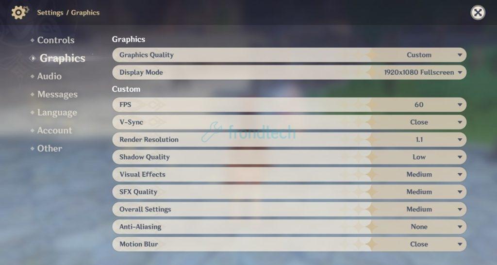 genshin impact graphics settings