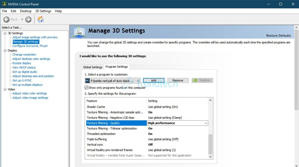 Cod black ops cold war nvidia control panel settings