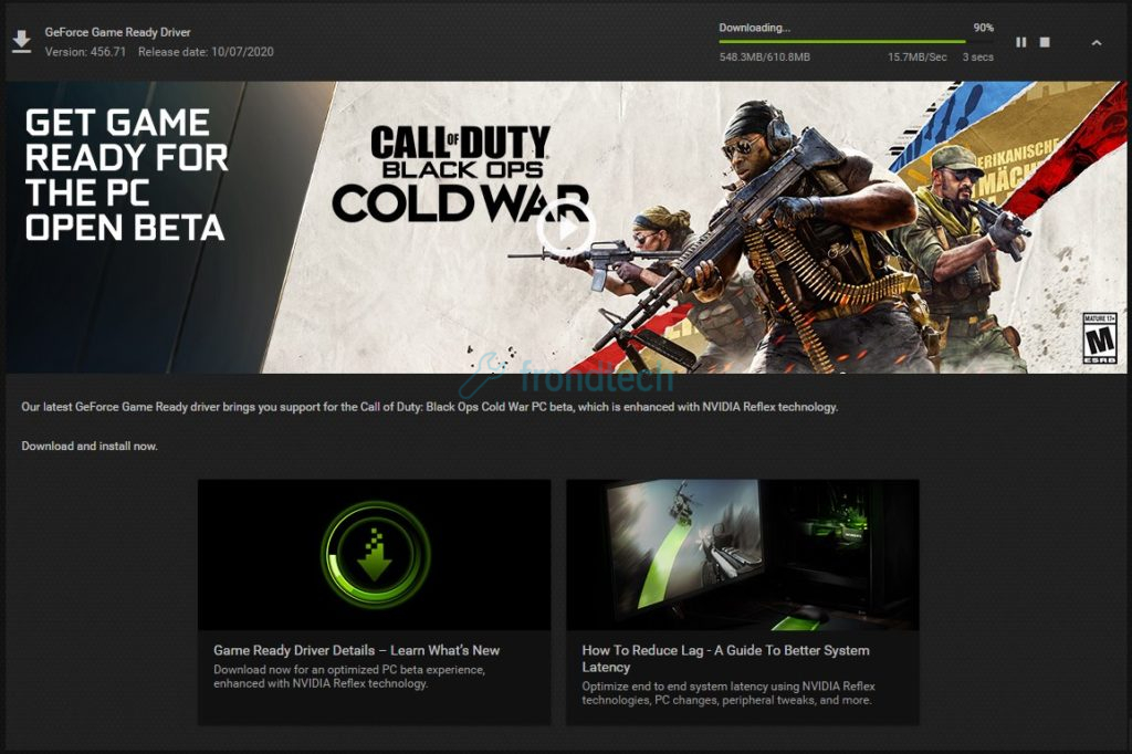 nvidia driver 456.71 for black ops cold war
